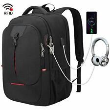 Laptop Backpack, College School Backpacks for 17.3 Inch Notebook Black