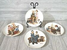 Norman Rockwell Beloved Classics Set of Four 1982 Limited Edition Plates -Japan