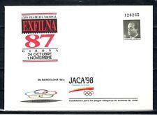 ESPAÑA SOBRE ENT.POST.1987 10A EXFILNA . JACA 98