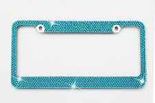 Blue Crystal License Plate Frame 7 rows Special Bling Offer