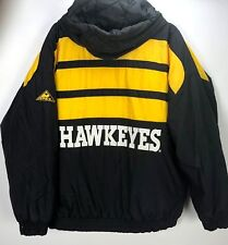 Apex Coat Jacket VTG 90s Banana Peel Mens L Iowa Hawkeyes Football Logo Winter