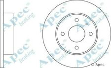 1x OE Quality Replacement Front Axle Apec Solid Brake Disc 4 Stud 239mm - Pair