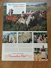 1950 Canadian Club Whiskey Ad Portuguese Campinos