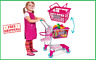 Molly Dolly 2 in 1 Kids Shopping Trolley & Basket Playset - Toy Shopping Cart 3