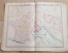 CARTE GEOGRAPHIQUE ANCIENNE: L'Europe CENTRALE IV (garantie authentique.19 eme)