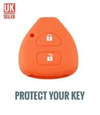 Orange Silicone Flip Key Cover Fob For RAV4 COROLLA PRADO CAMRY HILUX /-ci9a-/