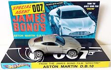 Hot Wheels JAMES BOND 007 Spectre ASTON MARTIN DB10 Car on Custom Display [b]
