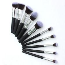 INMOZATA Kabuki Style Professional Make Up Brushes Set (10 Pcs)