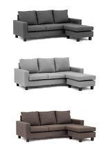 Capri Corner Sofa Left or Right, Chocolate Brown, Dark Grey, Light Grey or Black
