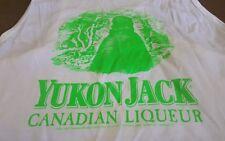 VTG 1989 Yukon Jack Canadian Liqueur Whiskey Tank Top Shirt L
