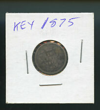 Key Date 1875 H Canada 10 Cents G - VG NC02