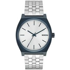Nixon A0451849 Time Teller Navy Silver Mens Analog Watch