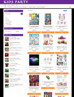 KIDS PAARTY SUPPLIES ECOMMERCE WEBSITE BUSINESS WITH 1 YEARS HOSTING & DOMAIN