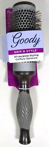 GOODY Grip N' Style Hot Round Brush All Purpose Styling - 1 Brush 03866 Gray