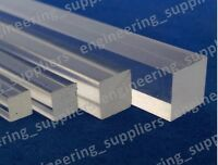 Square Plastic Rod Clear Acrylic 3, 4, 5, 6, 8 & 10mm, Various Length