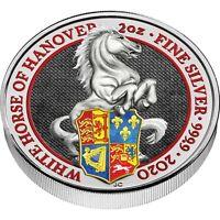 Großbritannien 5 Pfund 2020 Queen's Beasts Weisses Pferd von Hannover in Farbe