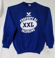 BLUE Sweatshirt (L) NASCAR VALVOLINE Race Team Souvenir Apparel VINTAGE C3-4A