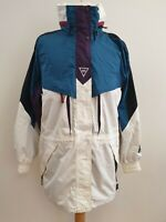 K780 MENS HELLY HANSEN WHITE BLUE FULL ZIP CASUAL JACKET UK S EU 46