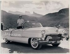 Young Woman & CADILLAC ELDORADO Cabrio & Junge Frau * Vintage 50s SEUFERT Photo