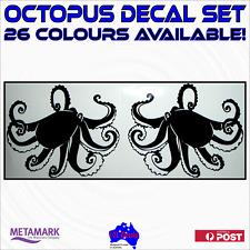 OCTOPUS decal sticker set.Fishing boat,tinny,runabout,marine,car,caravan graphic