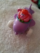 JELLY BEANS INC Dudley Easter Bunny in Purple Airplane 1993 Spearhead Toy