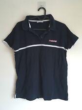 Reebok Classic Navy Blue White Ladies tennis Polo T-shirt Top Size L UK14 Sport