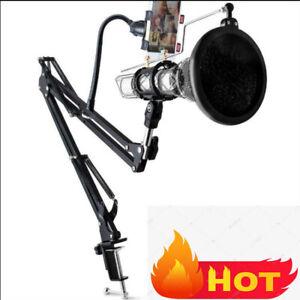 Mikrofonständer Set Tisch-Mikrofonarm mit klammer Microfon Halterung Stativ DE