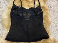 Black mesh Camisole Top sleepwear nightwear size L