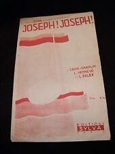 Partition Joseph! Joseph! Cahn Chaplin Henneve Palex Music Sheet