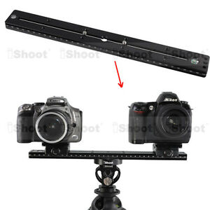 35cm Quick Release Plate for Camera Tripod Ball Head iShoot Double-sided Clamp
