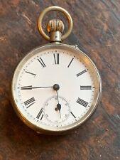 Small Gents 0.800 Silver Keyless Swiss Cylinder Pocket Watch c1920