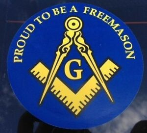 "1 Freemason Car Decal 3 1/2"" Masonic Logo Mason Sticker proud square compass new"