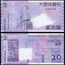 Macao 20 patacas de (P81) 2013 UNC