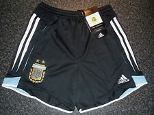 RARE VINTAGE 2004 BNWT BAGGED ARGENTINA ADIDAS HOME SHORTS KIDS 26W Approx 12yrs