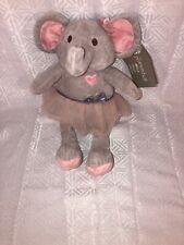 "NWT-HTF-15"" Bella Plush Elephant by The Peanut Shell"
