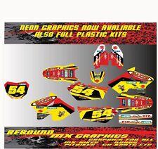 SUZUKI RM RMZ 65 85 125 250 450 Graphics Kit Sticker Kit Decals Red Yellow
