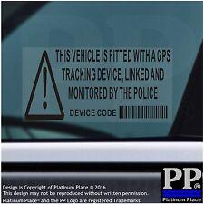 5x Vehicle,Car,Van,Taxi-BLACK-Security Stickers-GPS Signs-Alarm-Tracker Warning