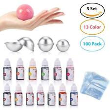 Bath Bomb Mold Diy Making Kit Liquid Soap Colors Set Dye Ball Shape Metal Tools