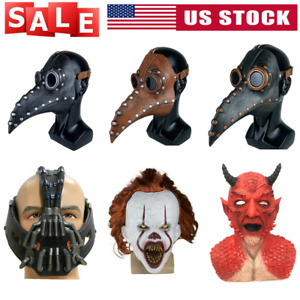 Plague Doctor /Pennywise/The Dark Knight Rises/Diablo/Tokyo Ghoul Halloween Mask