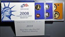 2008 U. S. MINT PROOF SET, WITH BOX, COA & 14 PROOF COINS,  SKU-184