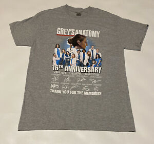 Greys Anatomy 16th Anniversary Thank You T-Shirt Signed Size M