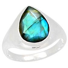 Labradorite 925 Sterling Silver Ring Jewelry S.10 LBFR296