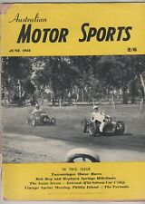 Australian Motor Sports 1958 Jun Alvis Mercedes 220S Coupe Tornado Lotus 7 Scara