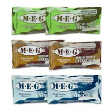 MEG - Military Energy Gum | 100mg caffeine pc | Multi Flavor 6 Pack (30 Count)