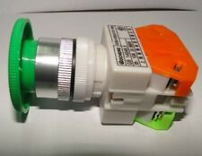 10A CNC Green Momentary Emergency Stop Mushroom Pushbutton Switch 22mm Mounting