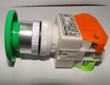10A CNC Green Momentary Emergency Stop Mushroom Pushbutton Switch 22mm Hole * 1