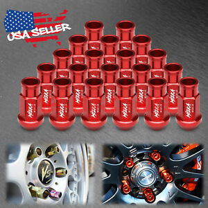 Red 20 PCS M12x1.25 Short Lug Nuts For Nissan Rouge Altima 370z 350z WN01
