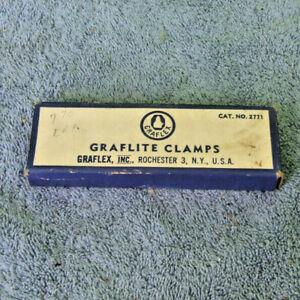 Graflex 2771 Graflite Flash Quick Release Mounting Clamp Set NOS