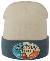 Stetson Bonnet Tricoté Bonnet en Laine Logo Patch Texas Accueil de BBQ Neuf