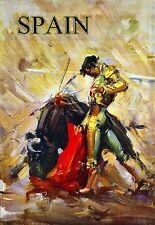 Art Print  Spain  Bullfighting  Travel  Poster